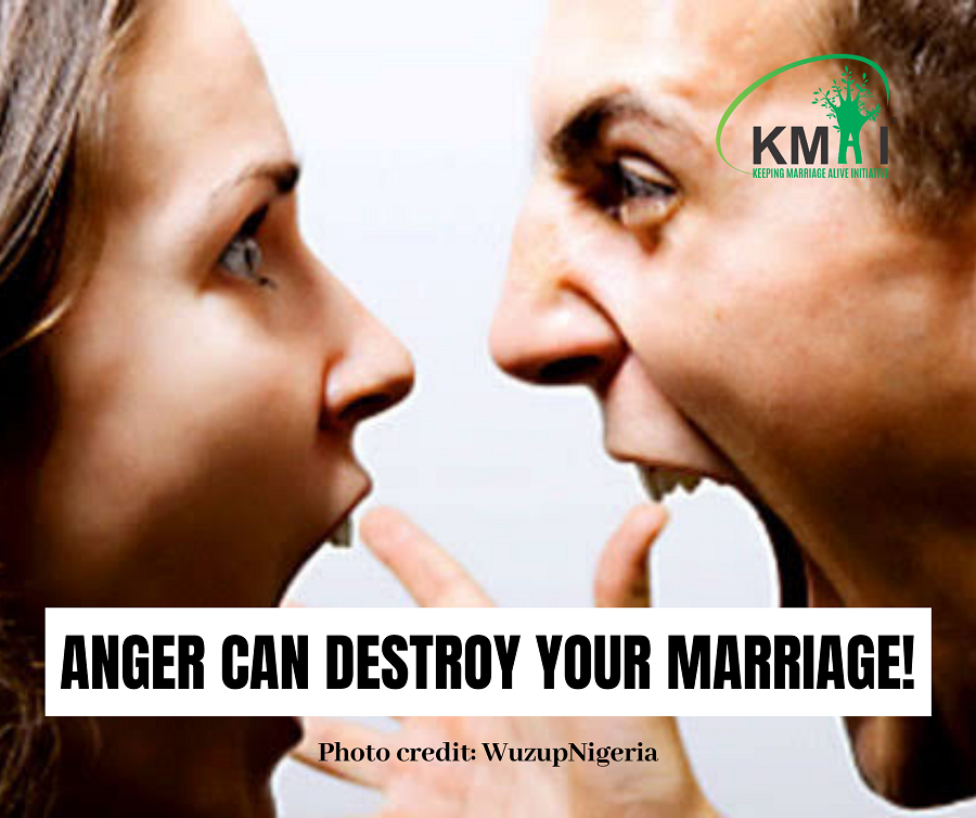 Anger can destroy your marriage