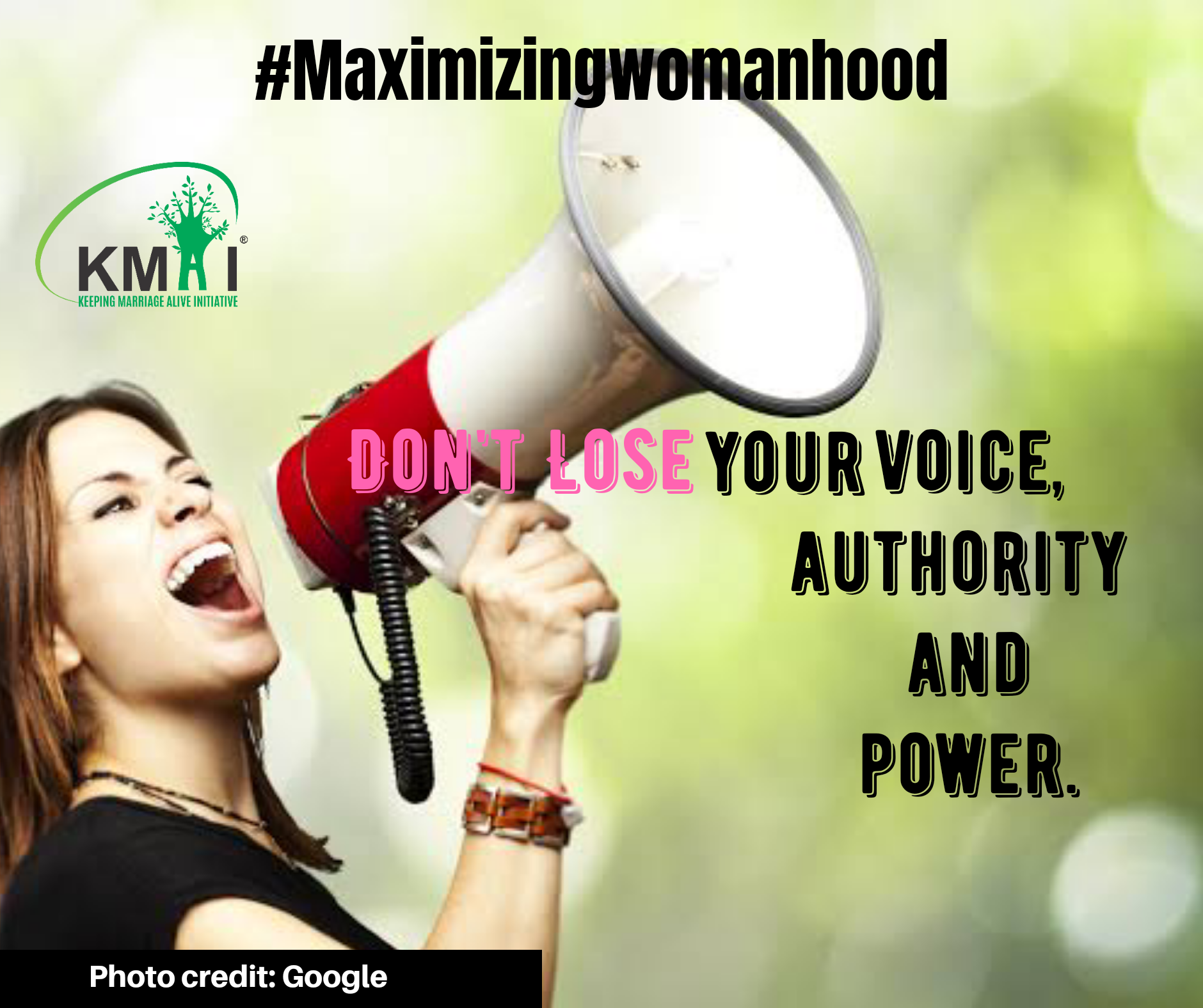 Don't lose your voice, authority and power