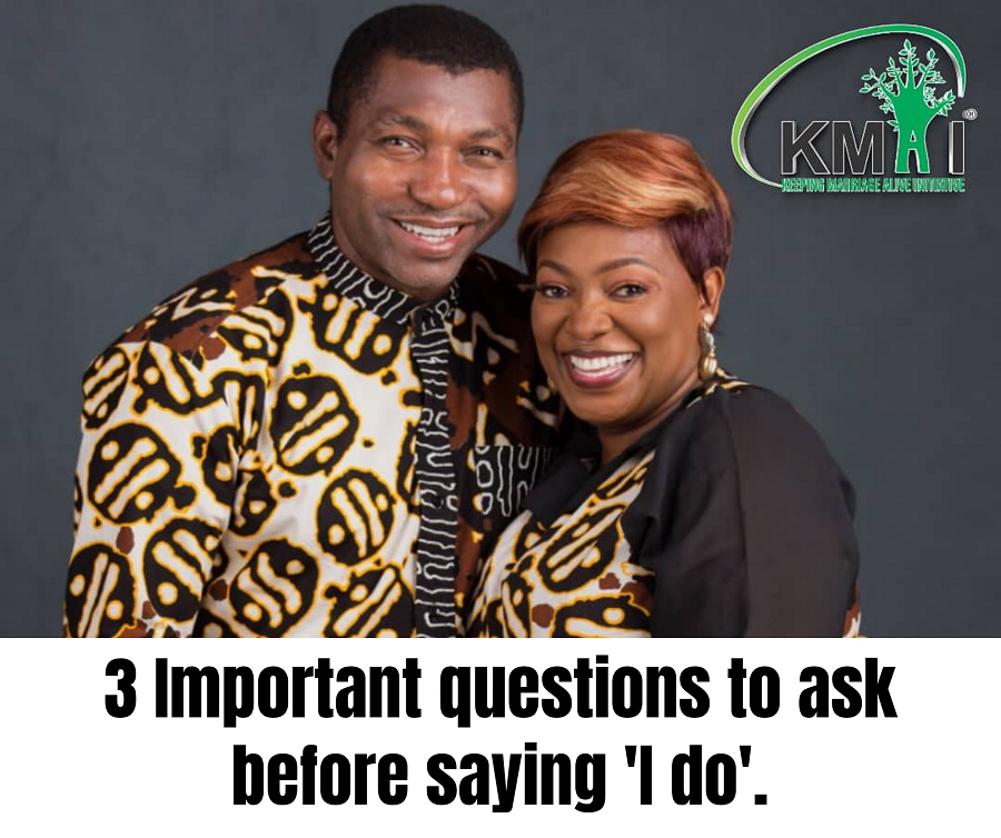 3 important questions to ask before saying 'I do'